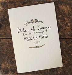 Bespoke Ilrated Order Of Service By Rebecca Mcmillan Ilration Notonthehighstreet Diy Wedding