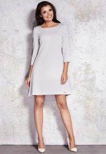 Elegancka sukienka Szara  M024