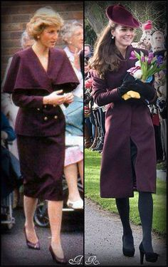 princesses in purple ~ Diana and Catherine.