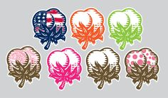SFC Cotton Boll Decal (Multiple Colors)