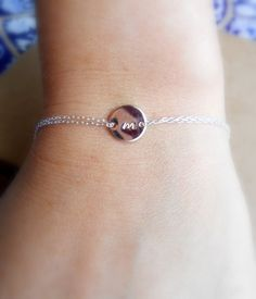 New Rose gold Personalized  bracelet Monogram rose by Hibiscusdays, $25.00