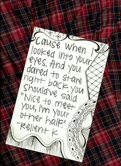 "Relient K is by far my favorite band... No matter how much I love Justin Bieber or One Direction or any other little ""come and go"" group, because Relient K is absolutely amazing, and I will never ever ever grow tired of their music. Not in a million years. Their songs are so profound, and the lyrics are beautiful. If you don't know who they are, you're missing out. <- Preach it, sister!"