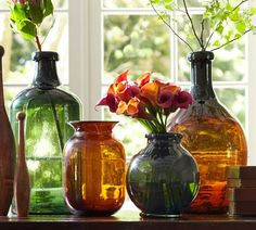 Recycled Glass Bottle Vases | Pottery Barn
