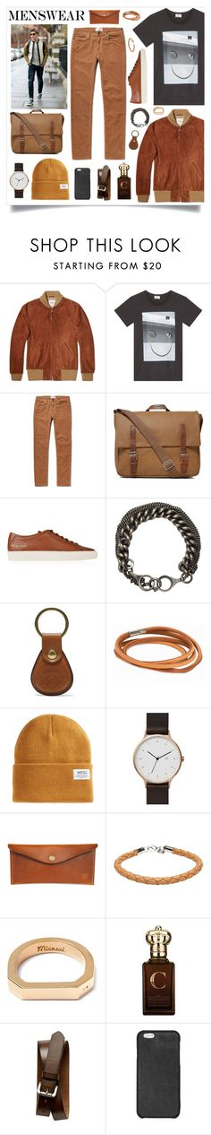 """""""Mens Wear"""" by madeinmalaysia ❤ liked on Polyvore featuring Golden Bear, Acne Studios, Ally Capellino, Common Projects, Ann Demeulemeester, Ghurka, WeSC, Red Clouds Collective, A.P.C. and MIANSAI"""