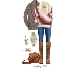 """""""candy red stripes"""" by taytay-268 on Polyvore"""