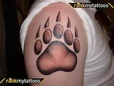 This on the hip, smaller though Tattoo You, Arm Tattoo, Claw Tattoo, Bear Paw Tattoos, Painted Sneakers, Bear Claws, Cool Tats, Side Tattoos, Bear Print