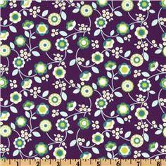 purple - Bonjour Floral Vines Purple