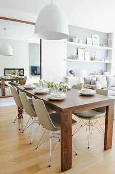 Modern Dining Room Design Ideas - We've obtained inspo for days to help obtain you began, whether you're looking for modern ideas in dining-room style, furnishings, wall art, as well as more. Condo Design, Küchen Design, Interior Design, Design Ideas, Modern Design, Rustic Design, Room Interior, Contemporary Design, Design Projects