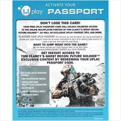 Ghost Recon: Future Soldier DLC - Online Passport - Xbox 360 only on eBid United States