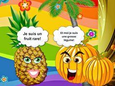 Expressions imagées avec fruits et légumes. Présentation multimédia, quiz et autres activités