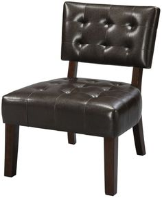 Leather Chair Accent Black Bedroom Office Dining Room Living Room Furniture (1) #Contemporary