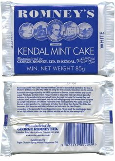 Kendal Mint cake has been made in Kendal in the Lake District since 1869.
