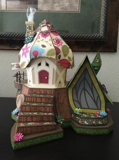 A Thing for Paper: Fairy Cottage SVGCuts #svgfiles #fairygarden