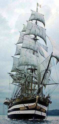 #Ships - Amerigo Vespucci tall ship by julianne