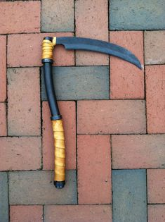 Hand Crafted Miniature Reaper Scythe by WarFireForge on Etsy, $160.00