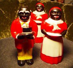 Aunt Jemima, Uncle Mose, Vintage Salt and Pepper Set, Aunt Jemima Syrup Container. 1950s Salt Pepper Syrup 3 Piece Aunt Jemima Set. by FriendsRetro on Etsy
