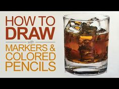 How to make colored pencil drawings better with markers. - YouTube