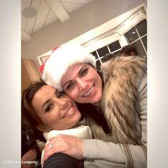 Eva Longoria @EvaLongoria : Me and my girl @LanaParrilla in the Christmas spirit! #MerryChristmas