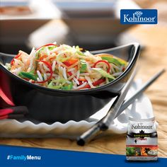 #Kohinoor #FamilyMenu  Confused about what to make for dinner? Here's a suggestion we're sure your family will love!  Suggested Meal: DINNER Main Course: #ChineseFriedRice Side Dish: Hot and Sour Soup Dessert: Fried Banana with Ice-Cream  You can find the recipe for the Main Course on our website: http://www.kohinoorindia.co.in/recipes/chinese-fried-rice.html