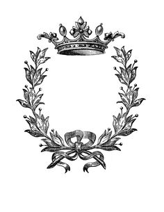 Iron on Transfer – Wreath with Crown