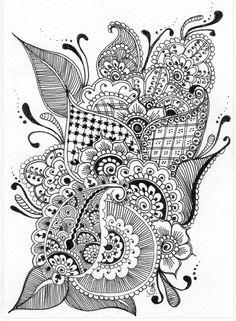 Die 1154 Besten Bilder Von Tangle Schwarzweiß Doodles Doodles