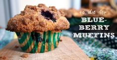 You can stop searching for the perfect cafe-esque, homemade blueberry muffin...NOW. Here it is made with fresh blueberries, topped with crunchy, cinnamon-sugar crumbles via On High Occasions. Easy to make and sure to please!