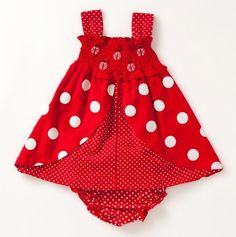 Ladybug Dress <3. For a little girl grand baby someday.