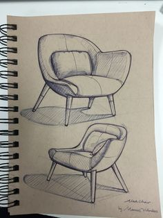 Verrückter Stuhl von Ming An design modern design sketch chair mismatched chair upholstered office chair dining chair chair comfortable chair makeover wooden chair wooden chair chair design chair ideas Interior Design Sketches, Industrial Design Sketch, Sketch Design, Drawing Furniture, Chair Drawing, Furniture Sketches, Drawing Sketches, Pencil Drawings, Drawing Ideas