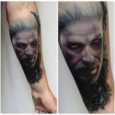 Geralt of Rivia tattoo done by Karol R