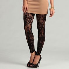 @Overstock - These seamless leggings from 6126 By Lindsey Lohan are styled with a big flower lace pattern with open-weave detailing. These black nylon-stretch leggings are the perfect finishing touch to any ensemble.http://www.overstock.com/Clothing-Shoes/6126-By-Lindsey-Lohan-Womens-Black-Flower-Lace-Legging/7009276/product.html?CID=214117 $14.99