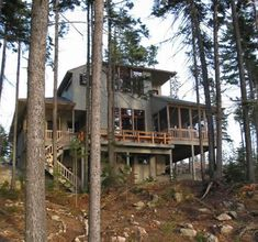 Very steep slope house plans sloped lot house plans with for Lake house plans for steep lots