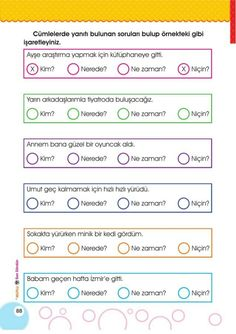 Turkish Lessons, Kindergarten, Turkish Language, Karma, Worksheets, Education, Sayings, Books, Kids
