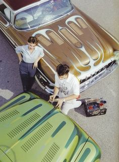 Old Custom Cars - Hand Painted Pinstripes - Classic Hot Rods