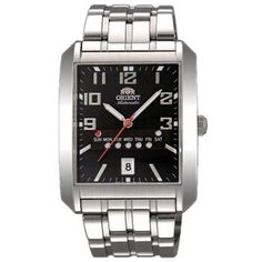Buy #Orient Men Black Dial Silver Strap square Shape - SFPAA002B7 at best price in india