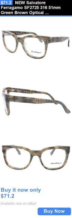 8d0b5747d0f Eyeglass Frames  New Salvatore Ferragamo Sf2725 316 51Mm Green Brown  Optical Eyeglasses Frames BUY IT