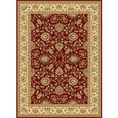 Centennial Red Traditional Area Rug (8'9 x 12'3)