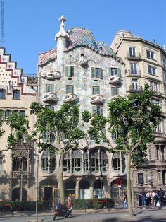 Gaudi's Casa Batlló - an apartment building in Spain.   Very cool.