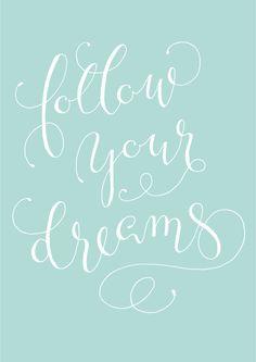 Fingertips Calligraphy #follow #dream  http://fingertips-calligraphy.blogspot.co.at/