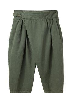 Limi Feu / Cross-Front Cropped Pant   La Garçonne