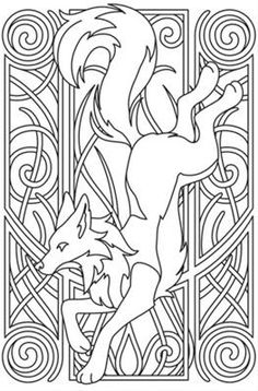 White Fox Nouveau by Urban Threads Embroidery Designs Embroidery Designs, Paper Embroidery, Mexican Embroidery, Fox Embroidery, Flower Embroidery, Embroidery Stitches, Urban Threads, Diy Y Manualidades, Celtic Art