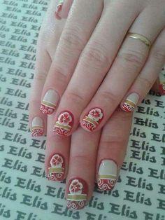 Unha diferente de Elis Embeleze. Different nail. Uña diferente. Unghie different.