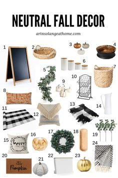 Neutral fall decor, Cheap home decor, Home decor, Country house decor, Diy home decor on a budget, Country home decor - Neutral Fall Decor for Budget Decorating -  #Neutralfall #decor