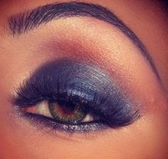 Gorgeous Blue Smokey Eye by MAC