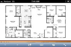 single story open concept house plans - Google Search