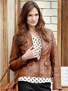 Boutique Tan leather jacket