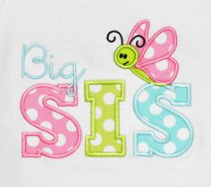 Big Sister Shirt Monogrammed Personalized by bowdaciousbaby