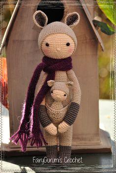 Amigurumi - FairyGurumi's Crochet: amigurumi - Kira le kangourou - Lalylala doll
