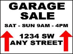 Garage Sale Flyer | pop tart coupon printable garage sale sign ...