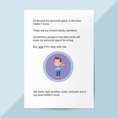 This personal space social story will help your child understand the concept of personal boundaries. It explains how there are difference boundaries depending on the relationship you have and touches concepts of consent. Personal Space Social Story, Personal Boundaries, Appropriate Behavior, Social Skills Activities, Stranger Danger, Space Games, Types Of Relationships, Autistic Children, Social Stories