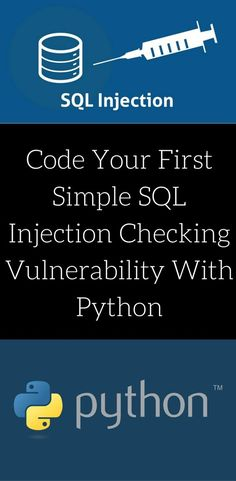 code your own Simple SQL Injection Checking Vulnerability with python using … koodi oma lihtsa SQL sissepritse kontrollimise haavatavus pythoniga kasutades … Gcse Computer Science, Computer Programming, Programming Languages, Computer Virus, Coding Languages, Computer Engineering, Computer Laptop, Kaizen, What Is Data Science